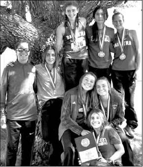 Girls' cross country teams claim titles