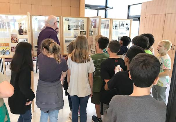 Students visit Alamo exhibit