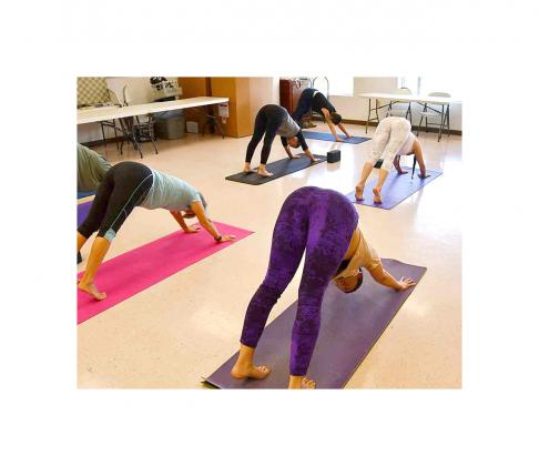 LIBRARY HOSTS YOGA