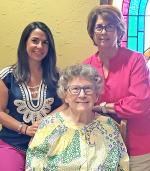 Three generations in a local family recently joined DAR's Major James Kerr Chapter. From left, granddaughter Kristen Andreason, grandmother Mary Heard and mother Sue Tolbert. Courtesy Photo